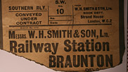 The railway opened up many opportunities for people in Braunton, not least the traders.  This scrap of paper shows that a retailer we know today transported goods from Braunton Station.  Courtesy of Braunton Museum.