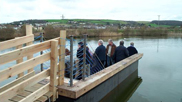 Using the viewing platform at Velator Wetlands