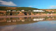The majestic Saunton Sands Hotel enjoys a commanding position about the beach.  Courtesy of Neville Stanikk.